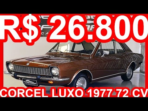 PASTORE R$ 26.800 Ford Corcel Luxo 1977 Marrom Florentino Metálico aro 13 MT4 FWD 1.4 72 cv #CORCEL