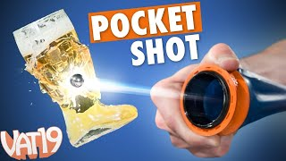 Repeat youtube video Pocket-Sized Slingshot is Crazy Powerful