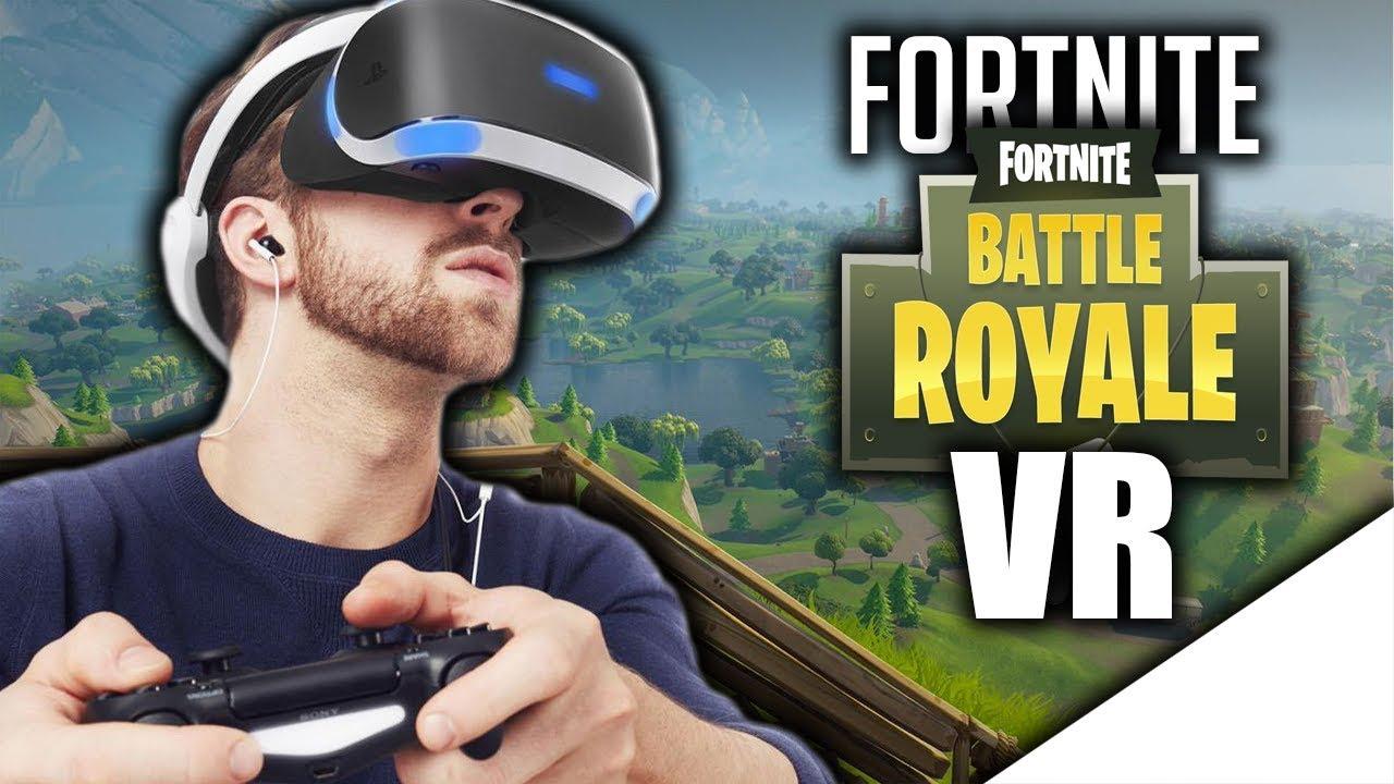 playing fortnite battle royale in vr - playstation vr fortnite