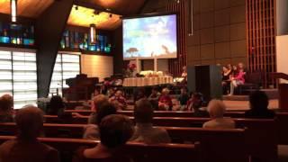 Simpson United Methodist Church, world communion day. Children
