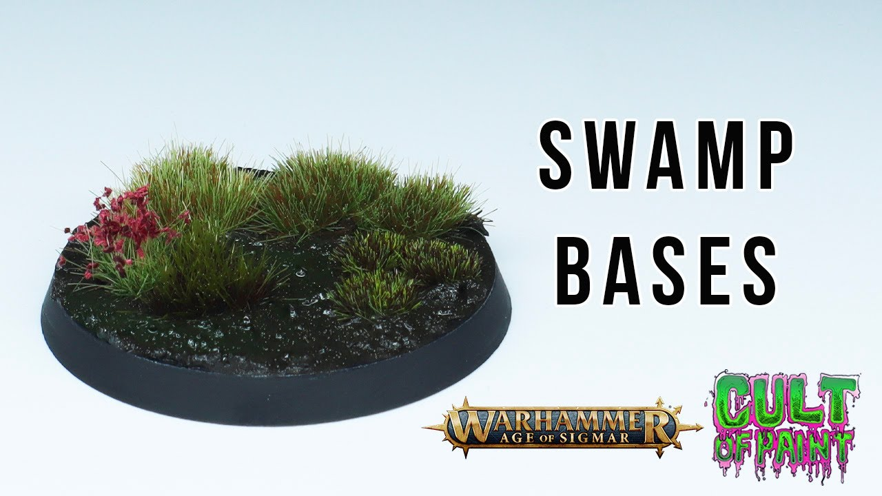 How to Make Super Simple Swamp Bases for Warhammer: Age of Sigmar
