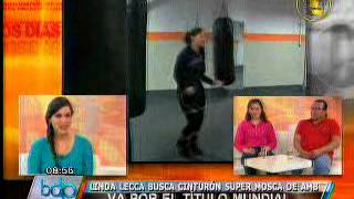 Entrevista a boxeadora Linda Lecca y entrenador Dante Quiroz en Buenos Días Perú