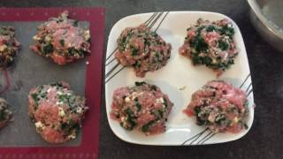 Spinach & Feta Turkey Burgers 5 Smart Points  Cook With Me Weight Watchers Recipe