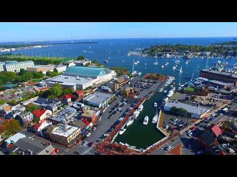 AERIAL: ANNAPOLIS + STATE HOUSE + NAVAL ACADEMY
