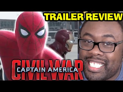 SPIDER-MAN! CAPTAIN AMERICA Civil War Trailer 2 REVIEW