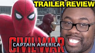 SPIDER-MAN! CAPTAIN AMERICA Civil War Trailer 2 REVIEW