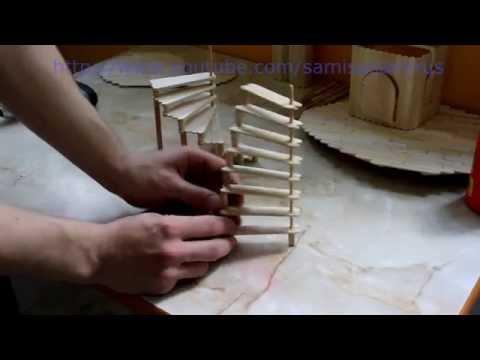 Лестница для кукольного домика своими руками