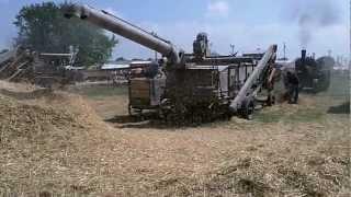 Steam Powered Threshing Machine - Midwest Old Threshers 2012