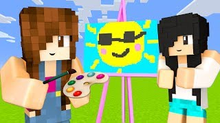 Minecraft Pixel Painters - SOL & URSO POLAR KAWAII