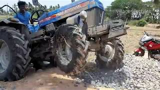POWERTRAC tractor stuck in mud | powertrac euro 45 plus 4WD tractor.