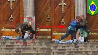 【閲覧注意】大聖堂前で人質事件 ホームレスが人質救出も
