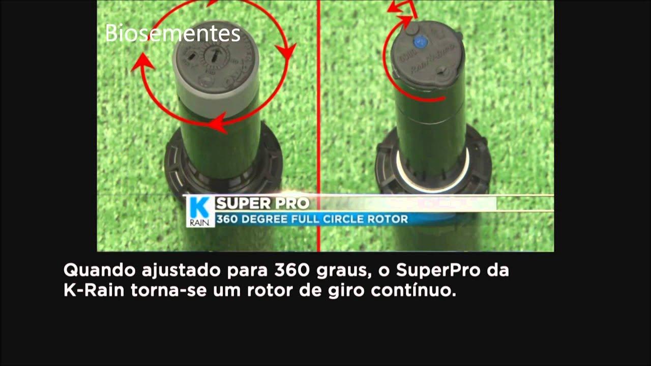 Aspersor rotor super pro ngulo irriga o subterr nea for Aspersor de jardin