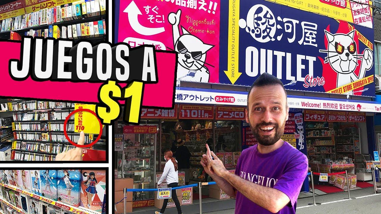 ¡¡Un OUTLET con VIDEOJUEGOS y FIGURAS!! 😱 JUEGOS a 1 DÓLAR  | RETRO en JAPON