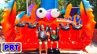 Vlad e Nikita no parque de diversões Sea World
