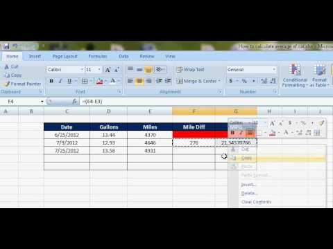 How to calculate MPG of a car - YouTube