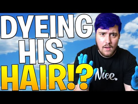 DYEING AUSTIN'S HAIR BLUE - LOST A BET