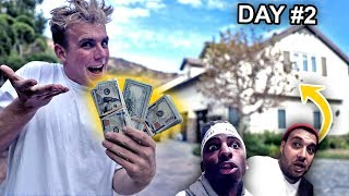 24HR CHALLENGE IN STRANGERS HOUSE - Last To Leave Wins $25,000 from Jake Paul!!