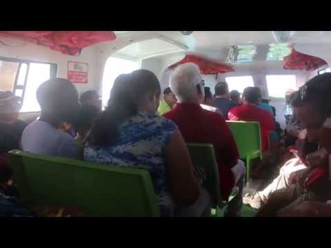 Inside the Water Taxi to Belize City