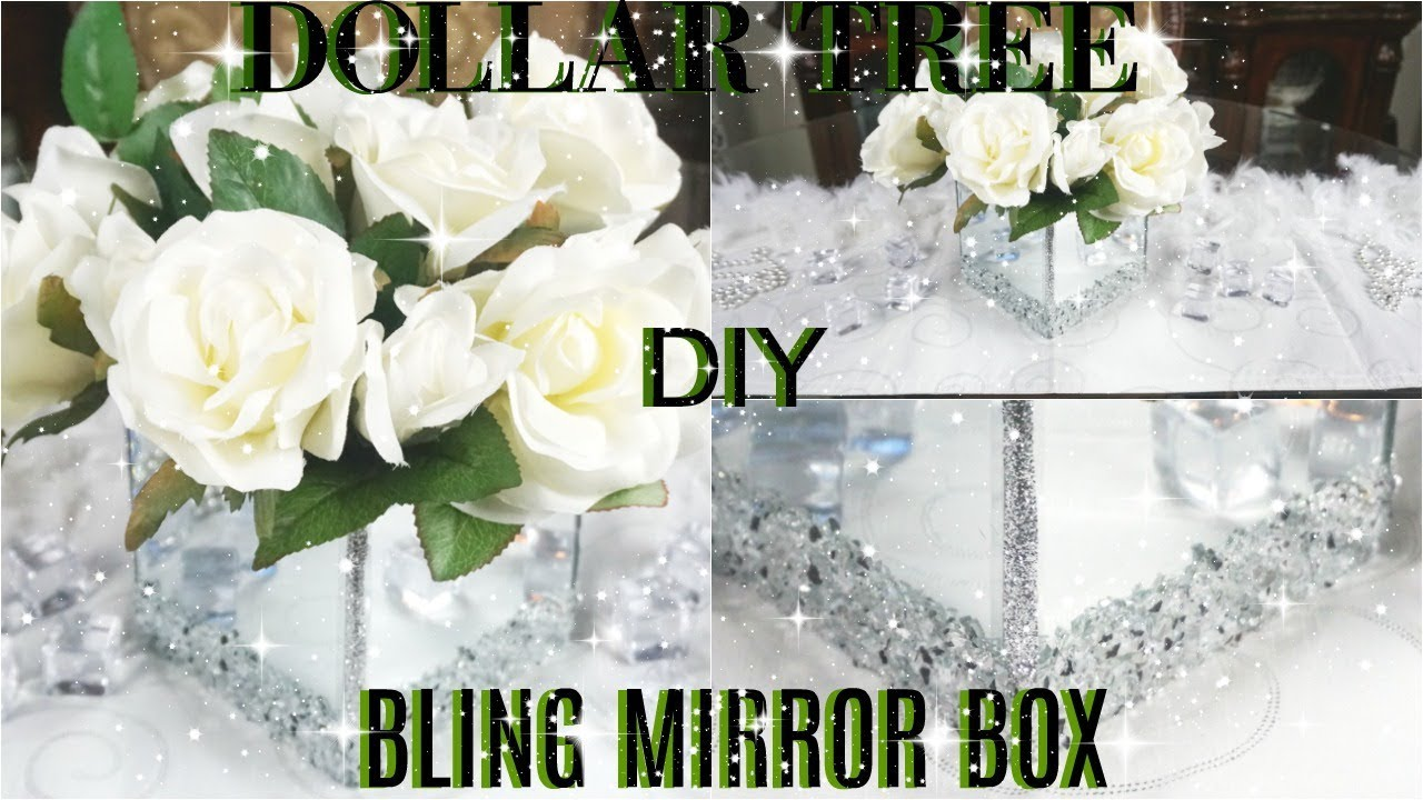 Diy Dollar Tree Bling Mirror Box Diy Glam Mirror Room Decor Diy Glam Home Decor