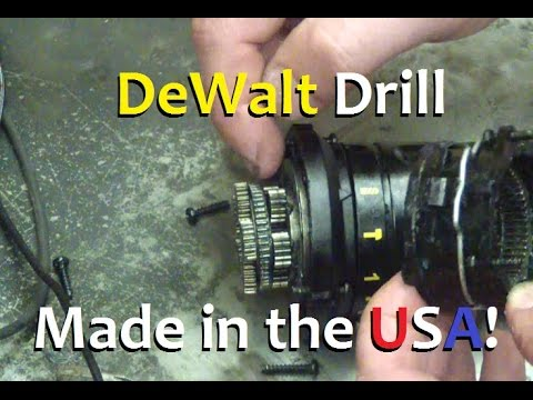 BOLTR: Made in USA, DeWalt 20V MAX Hammer Drill. Mechanical Part A.