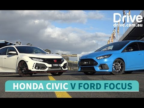 Head to head: Honda Civic Type R vs Ford Focus RS | Drive.com.au