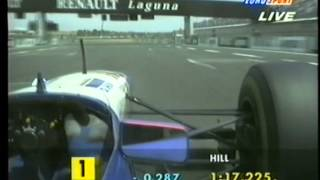 F1 1995 French GP Damon Hill vs Michael Schumacher Fight For Pole Position