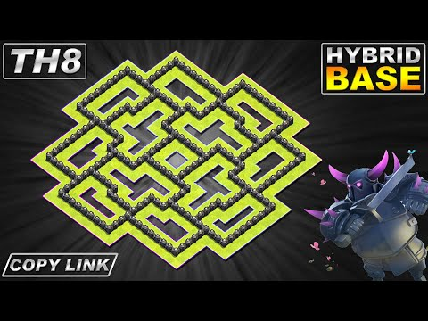 NEW BEST! Town Hall 8 (TH8) Hybrid Base 2020 With REPLAY | TH8 Base With COPY LINK - Clash Of Clans