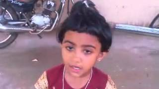 3 year old KALYANI singing a lengthy malayalam poem