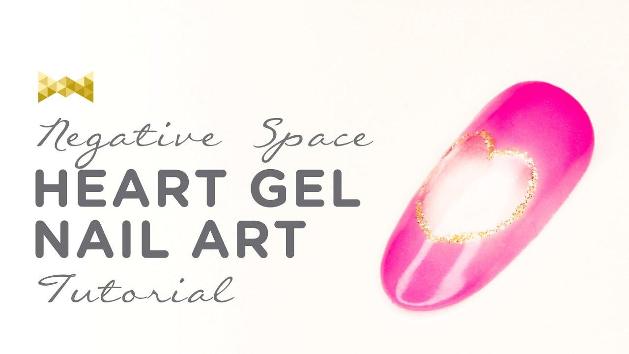 Www Neiru Me Negative Space Heart Nail Art Design The Nail