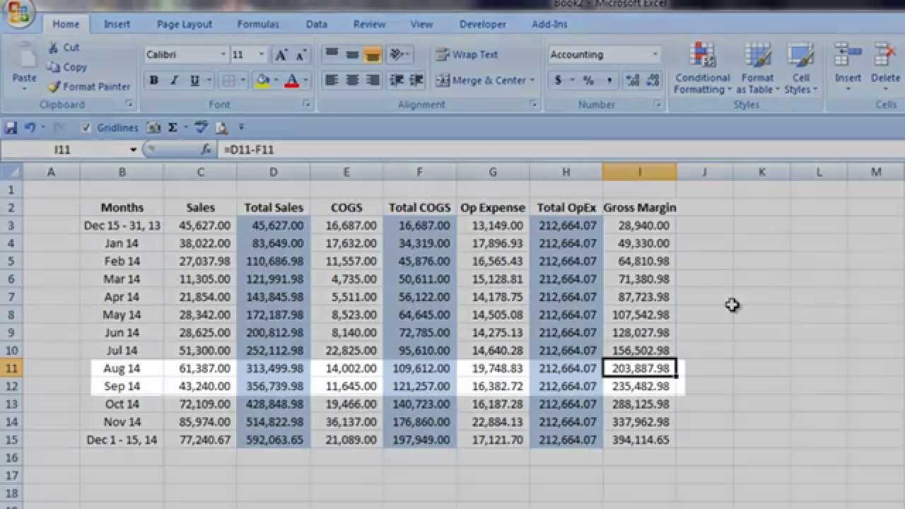 Quickbooks: Operational Break-Even Part 1 - YouTube