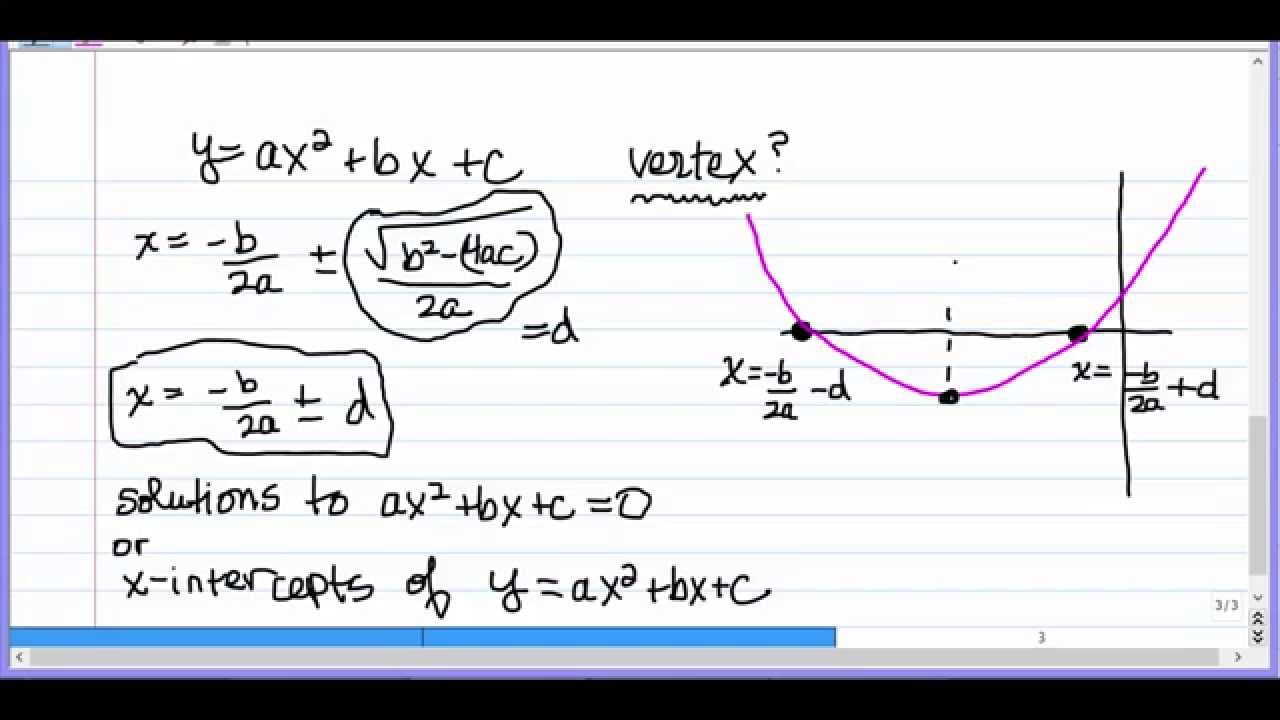 Finding the x coordinate of the vertex of a parabola youtube finding the x coordinate of the vertex of a parabola falaconquin