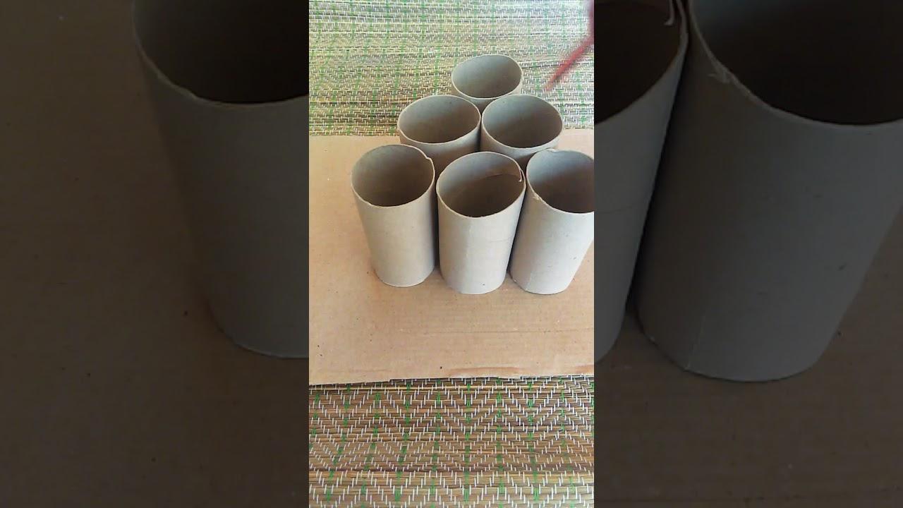Reciclando rollos de papel/manualidades