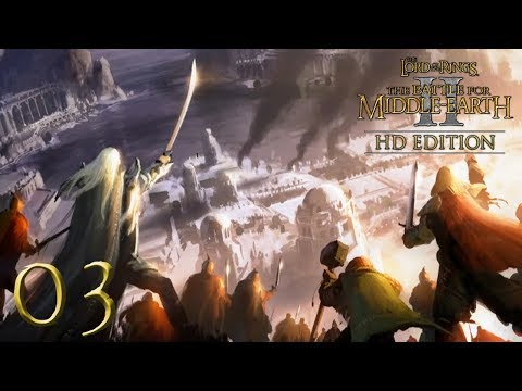 [3] Grey Havens & Celduin Battles! - Battle For Middle Earth 2 Good Campaign (HD)