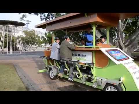 Fun Group Beer Bike Ride Activity in Sydney on the Biggest 4 wheel Pedal Inn
