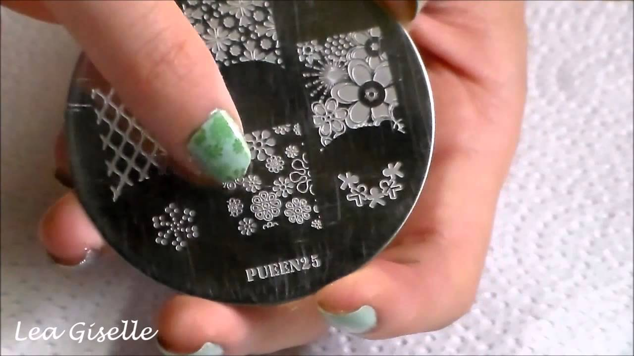 Nail Art Stamping Ideaspueen25 Youtube