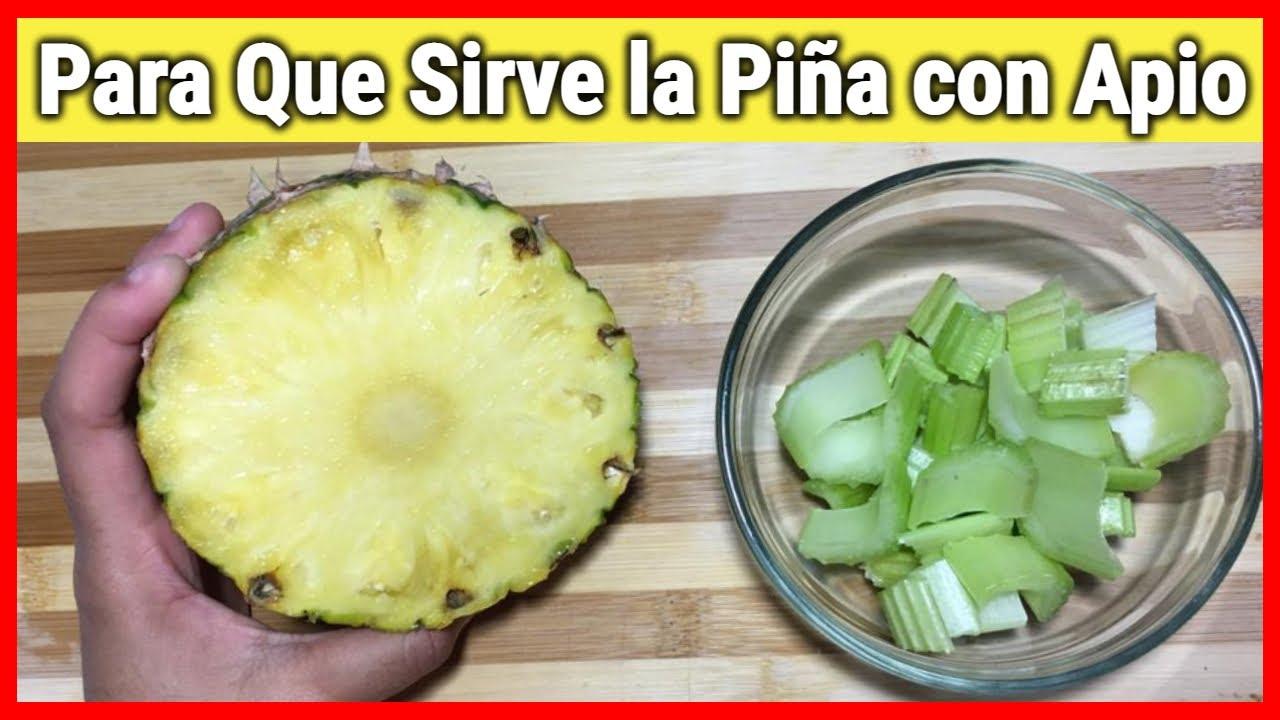 Mezcla Apio y Piña y mira para que sirve! Beneficios que no sabia de la Piña y el Apio