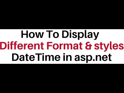 Display DateTime Format And Styles In TextBox In Asp.Net