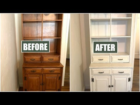 HOW TO CHALK PAINT FURNITURE | CHALK PAINT FOR BEGINNERS | DIY HUTCH MAKEOVER