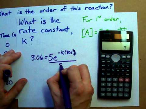 How to Find the Rate Constant of a Reaction (Given Table) - YouTube