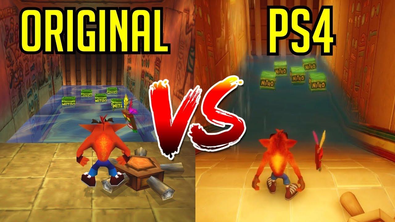 3ab3c14e0e198 Crash Bandicoot N. Sane Trilogy - Gameplay Comparison (PS4 vs Original)