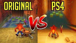 Crash Bandicoot N. Sane Trilogy - Gameplay Comparison (PS4 vs Original)
