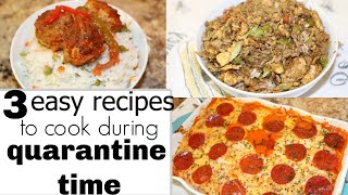 3 easy recipes to cook during quarantine time | Recipes with Ros Emely