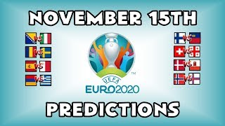 EURO 2020 QUALIFYING MATCHDAY 9 - PART 2 - PREDICTIONS