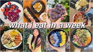 what i eat in a week (with easy recipes)