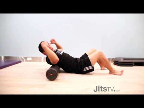 How to Massage Your Upper Back & Neck With A Foam Roller | Dr. Jim Feng | Jits Magazine