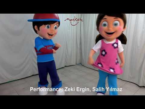 Child Mascot Costumes. Playo And Playa