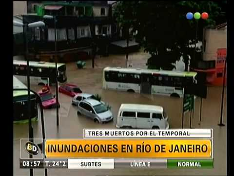 Inundaciones en Rio de Janeiro - Telefe Noticias
