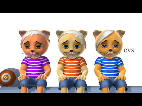 three-little-kittens-&-five-little-kittens-jumping-on-the-bed---3d-rhymes-&-songs-for-children