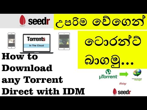 Torrent to Direct - Best Free cloud service with Super Speed! - Seedr - Sinhala Review