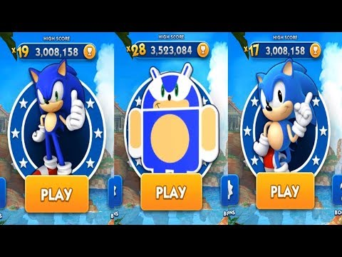 Sonic Dash Android Gameplay - SONIC VS ANDRONIC VS CLASSIC SONIC #1